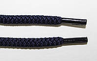 Шнурки круглые 6мм плотные, темно синий, фото 1