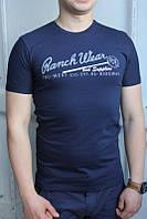 Темно-синяя Мужская Футболка Турция молодёжная приталенная Ranch Wear