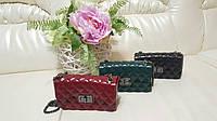 Женская силиконовая сумочка клатч на цепочке в разных цветах