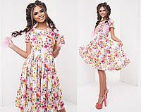 Платье  воздушное в цветочек