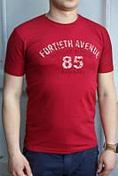 Бордо Мужская Футболка Турция молодёжная приталенная 3D (85)