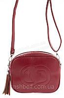 Аккуратная женская маленькая наплечная сумка почтальонка с экокожи art. X-146 красная