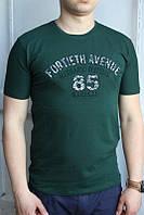Темно-зеленая Мужская Футболка Турция молодёжная приталенная 3D (85)