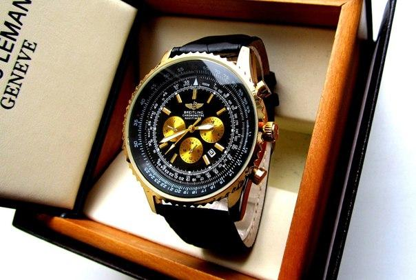 Кварцевые мужские часы Breitling. Стильные мужские часы. Часы мужские реплика. Лучшие реплики часов.