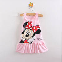 Легкое трикотажное платье для малышки размер 86.