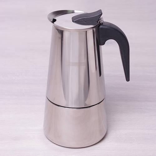 Кофеварка гейзерная Kamille 450мл из нержавеющей стали