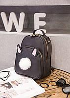 Рюкзак сумка женская Кролик Зайчик ушки хвостик PU кожа