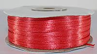 Лента атласная. Цвет - коралловый. Ширина - 0,3 см, длина - 123 м
