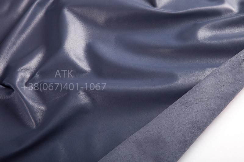 Кожа одежная наппа серо-голубая