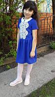 Нарядное  платье для девочки  украшенное кружевом
