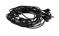 Шнур с переключателем для торшеров и бра 4А 220В 1,75м черный