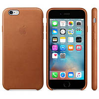 Кожаный чехол Apple Leather Case Brown для iPhone 6s plus, фото 1