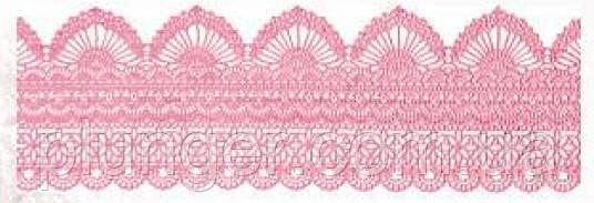 """Сахарное украшение для торта """"Кружево №425 розовое"""""""