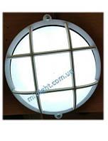 Светильник светодиодный ЖКХ 12W накладной круг с матовым рассеивателем и решеткой