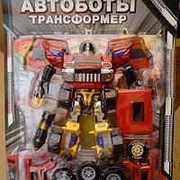 Детские роботы трансформеры Автобот с музыкальными эффектами