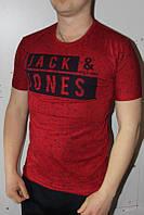 Бордо Мужская Футболка Турция молодёжная приталенная JACK JONES