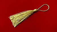 Кисточки - мини  для  декора  7,5 см  св. золот.