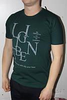 Темно-зеленая Мужская Футболка Турция молодёжная приталенная LG