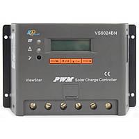 Фотоэлектрический контроллер заряда EPsolar VS6024BN, ШИМ 60А 12/24В  с дисплеем
