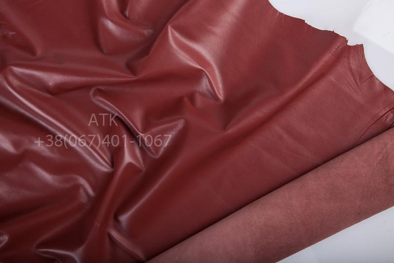Кожа одежная наппа терракотово-красная