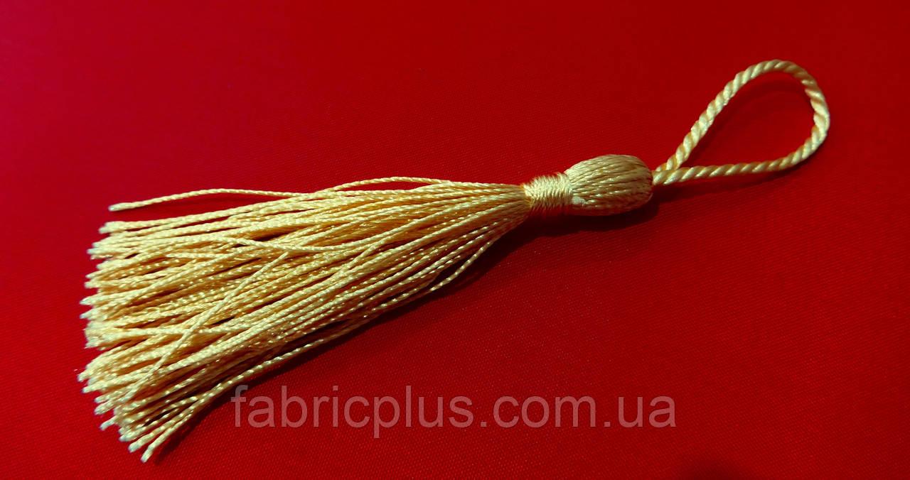 Кисточки - мини  для  декора  55-65 мм  светлое золото