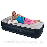 Надувная кровать матрас Intex 67732 Deluxe Pillow Rest 102 х 203 х 48 см (Интекс 67732), фото 1