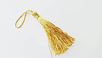 Кисточки - мини  для  декора  6,5 см  золото