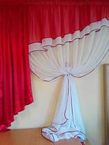 """Комплект штор """"Алые паруса"""", (ламбрикен + гардина), фото 3"""