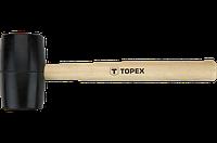 Topex Киянка резиновая O 50 мм, 340 г, рукоятка деревянная