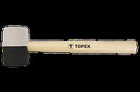 Topex Киянка резиновая O 63 мм, 680 г, черно-белая резина