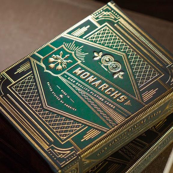 Карты игральные   Monarch Playing Cards (Green)