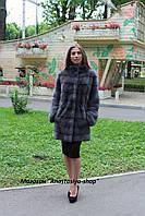 Новая коллекция! Женская шуба из меха скандинавской норки, длина 80 см, цвет ирис, в наличии 44,46 р