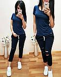 Женский стильный летний костюм: футболка и брюки /капри (2 цвета), фото 2