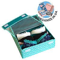 Коробочка для белья\бюстиков с крышкой ORGANIZE (мохито)