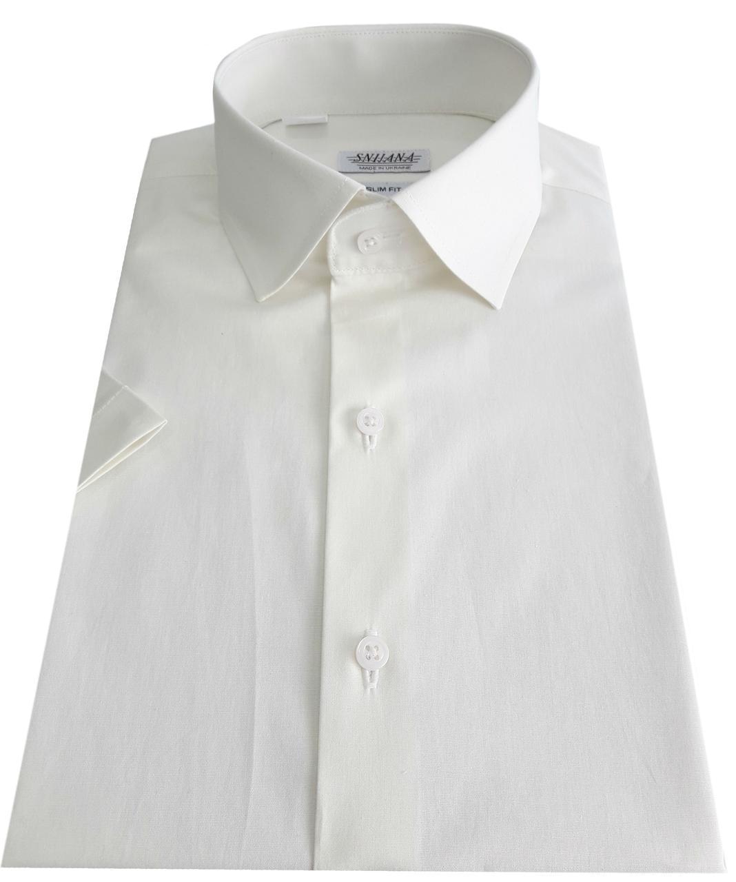 Мужская рубашка с коротким рукавом  №10-16 - 40-100 V28