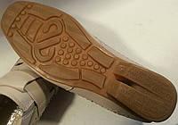 Мокасины летние мужские натуральная кожа р40-45 MEMTOL 132 бежевые