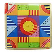 Goki Конструктор деревянный Разноцветный мир, арт. 58661