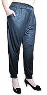 Женские брюки-султанки масло  БАТАЛ №403-1 черные