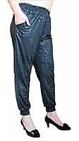 Женские брюки-султанки масло  БАТАЛ №403-2 черные
