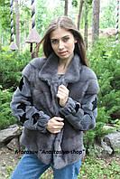 Стильный норковый бомбер-куртка, трансформер на жилет, в наличии 44/46 р