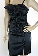 Платье черное атласное Fervente