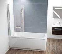 Штора для ванны одноэлементная CVS1-80 L(R) сатин +Transparent