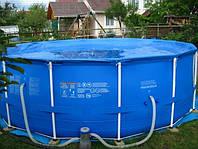 28236 (54946) бассейн каркасный 457*122см с фильтр.насосом и аксессуарами