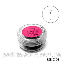 Ресницы в банках ESB-C-03 (диаметр: 0,17 мм, длина: 12 мм)