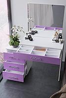 Большой будуарный столик с зеркалом и тумбой  BS-4