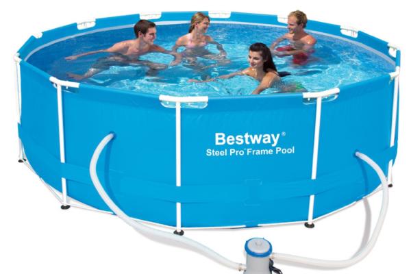 Круглый каркасный бассейн Bestway + фильтр-насос 220V (2 006 л/ч),  366х100 см (BW56260)