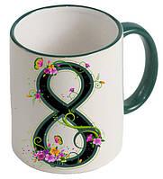 Чашка с цифрой