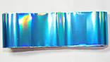 Фольга для ногтей 1 метр голубая ,синяя разные рисунки, фото 2