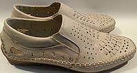 Мокасины летние мужские натуральная кожа р42 и 46 MEMTOL 212 бежевые