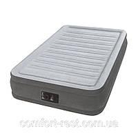 Надувная односпальная кровать Intex 67766 (99-191-33 см.) + встроенный электронасос 220W, фото 1